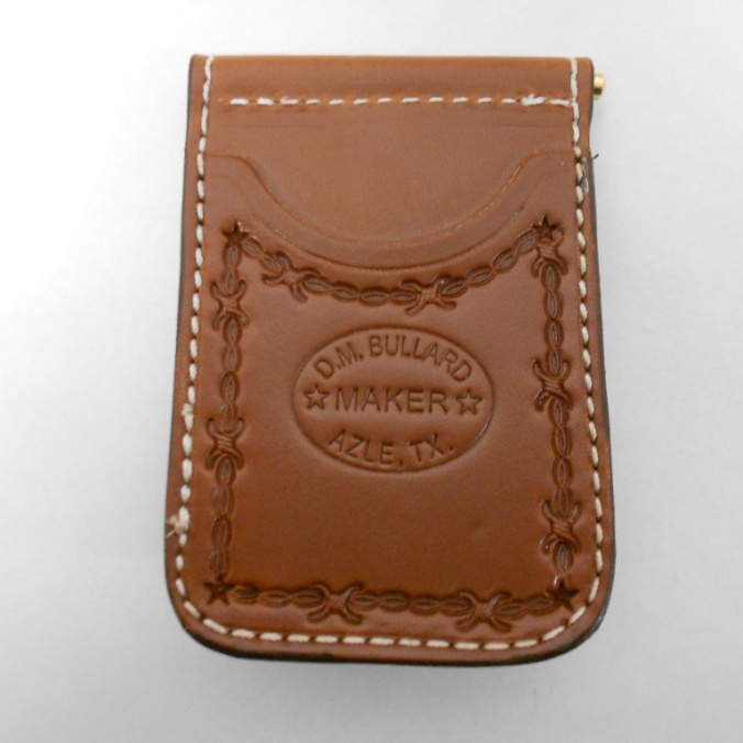 10278 D.M. Bullard 4 Pocket Barbed Wire Brown Cowboy Wallet